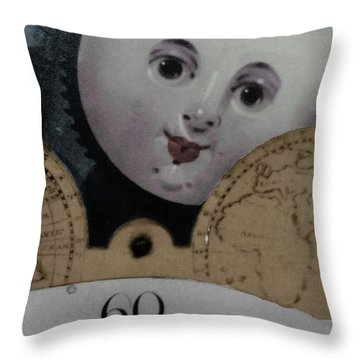 Throw Pillow featuring the photograph Moon Face by Lyric Lucas