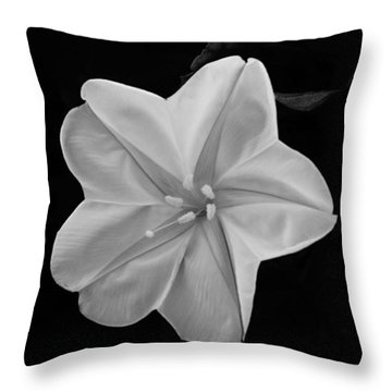 Moon Flower Throw Pillow