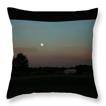 Throw Pillow featuring the photograph Moon Glow by Ellen O'Reilly