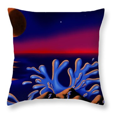 Moon-glow II Throw Pillow
