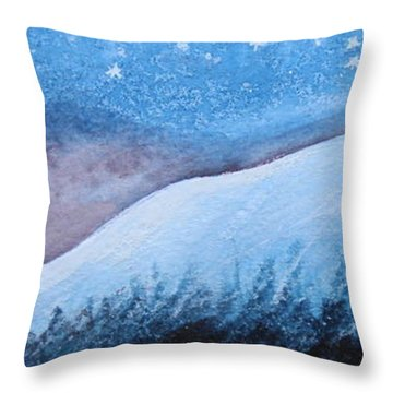 Throw Pillow featuring the painting Moon Glow by Margaret Bobb