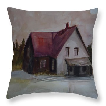 Moon House Throw Pillow