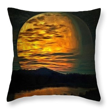 Moon In Ambiance Throw Pillow