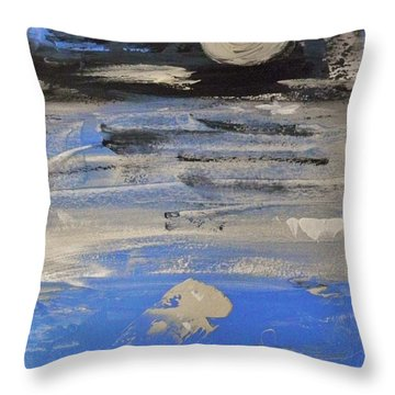 Moon In October Sky Throw Pillow by Mary Carol Williams