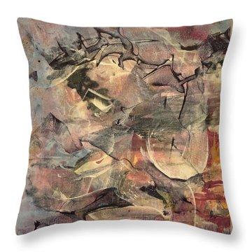 Primitive Moon  Throw Pillow