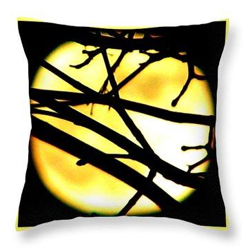 Moon Iv Throw Pillow
