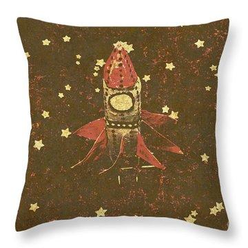 Moon Landings And Childhood Memories Throw Pillow