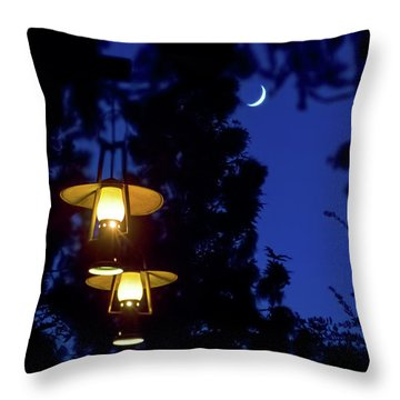 Throw Pillow featuring the photograph Moon Lanterns by Mark Andrew Thomas
