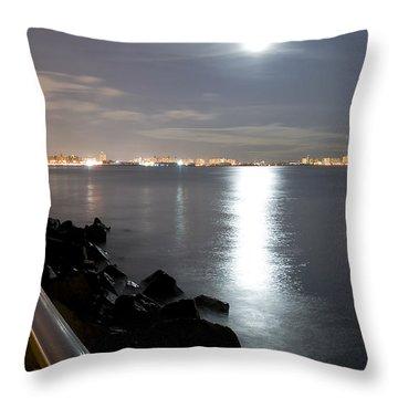 Moon Light Throw Pillow by Svetlana Sewell