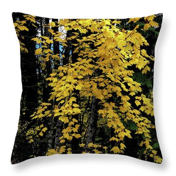 Moon Maple 2 Throw Pillow