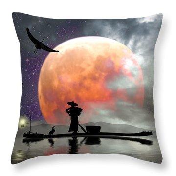Moon Mist Throw Pillow