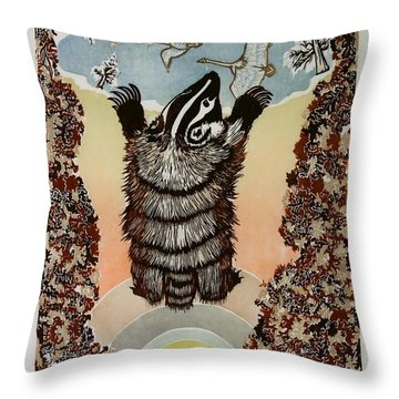 Moon Of Falling Leaves Throw Pillow