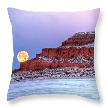 Moon Of The Popping Trees Throw Pillow