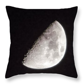 Moon On Day 7 Throw Pillow