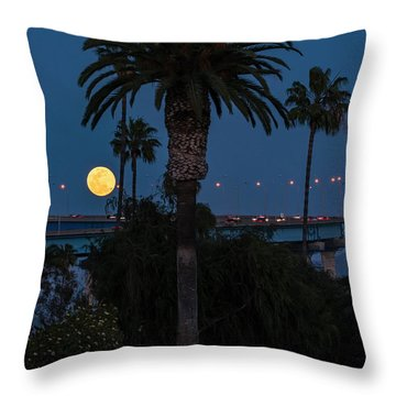 Throw Pillow featuring the photograph Moon On The Rise by Dan McGeorge