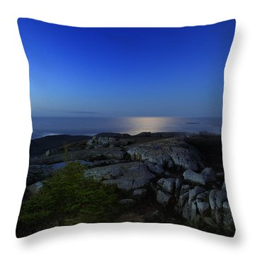 Moon Over Cadillac Throw Pillow by Rick Berk