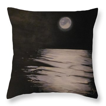 Moon Over The Wedge Throw Pillow