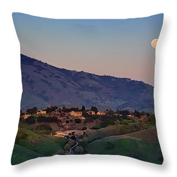 Moon Over Diablo Throw Pillow