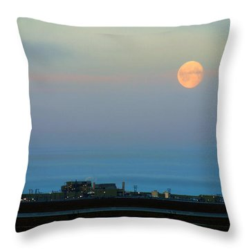 Moon Over Flow Station 1 Throw Pillow