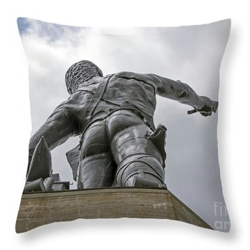 Moon Over Homewood Throw Pillow