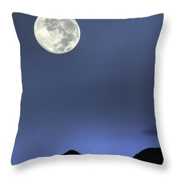 Moon Over Ko'olau Throw Pillow