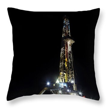 Moon Over Latshaw 10 Throw Pillow