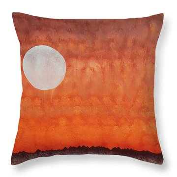 Moon Over Mojave Throw Pillow