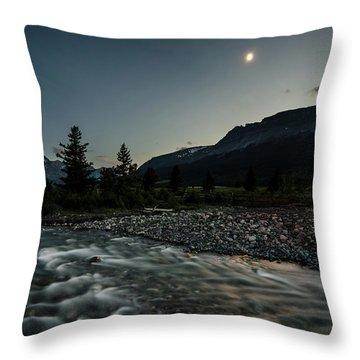 Moon Over Montana Throw Pillow