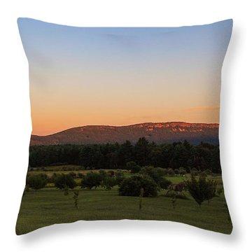 Moon Over Mount Tom Throw Pillow