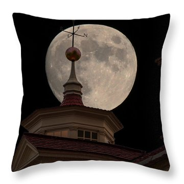 Moon Over Mount Vernon Throw Pillow