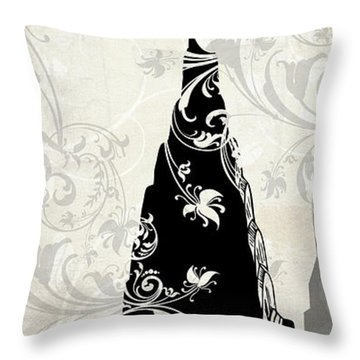 Moon Over New York Throw Pillow
