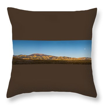 Moon Over Pintada Mountain At Sunrise In The San Juan Mountains, Throw Pillow