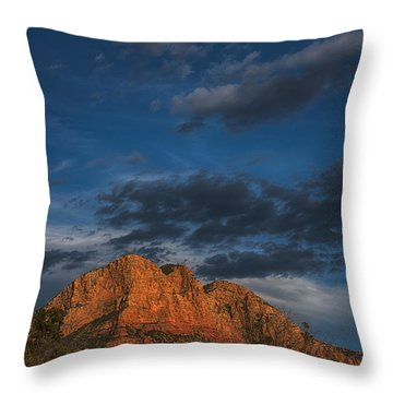 Moon Over Sedona Throw Pillow