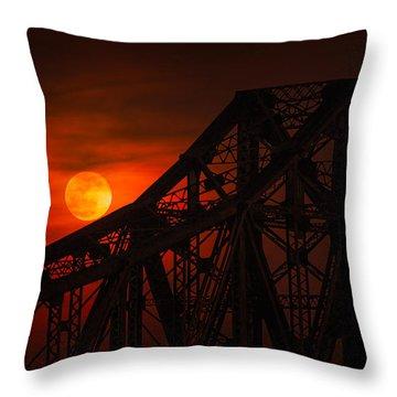 Moon Over The Bridge Throw Pillow