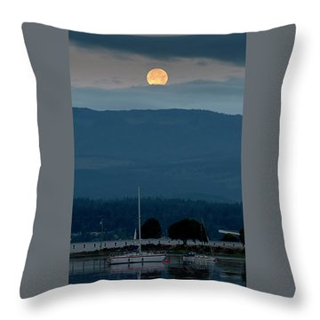 Moon Over The Spit Throw Pillow