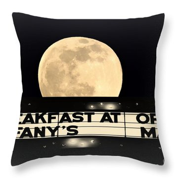 Moon Over Tiffany's Throw Pillow