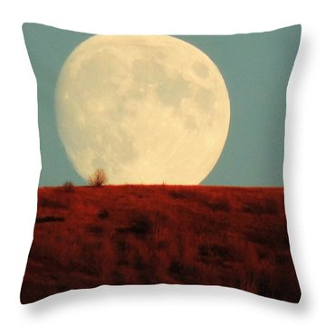 Moon Over Utah Throw Pillow