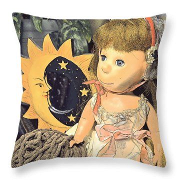 Moon Pearl Throw Pillow