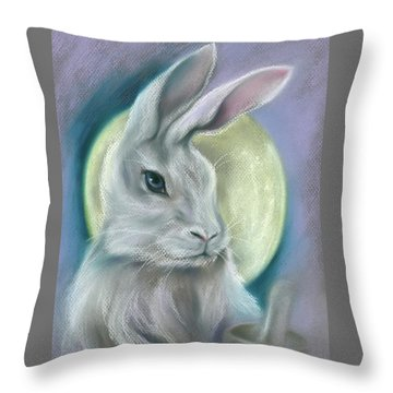 Moon Rabbit Throw Pillow