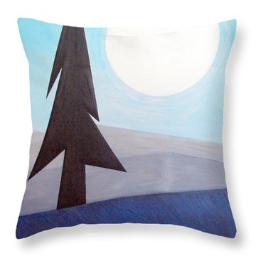 Throw Pillow featuring the painting Moon Rings by J R Seymour