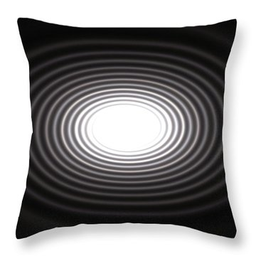 Moon Rings Throw Pillow