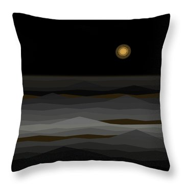 Moon Rise Abstract II Throw Pillow