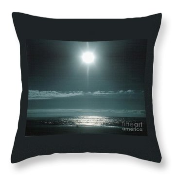 Throw Pillow featuring the photograph Moon Rise by Charles Robinson