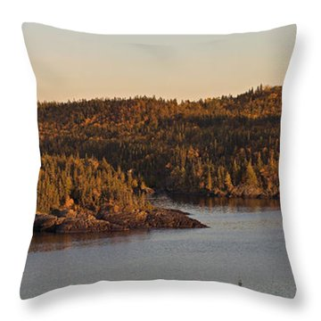 Moon Rise Over Pukaskwa Throw Pillow