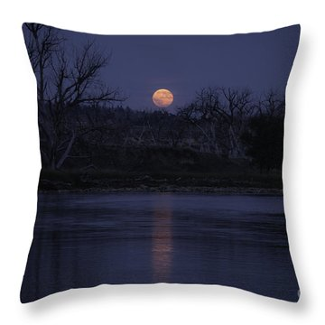 Moon Rise Over The Tongue Throw Pillow