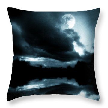 Throw Pillow featuring the photograph Moon Rising by Aaron Berg