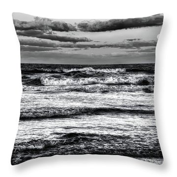 Throw Pillow featuring the photograph Moon Rising  by Louis Ferreira