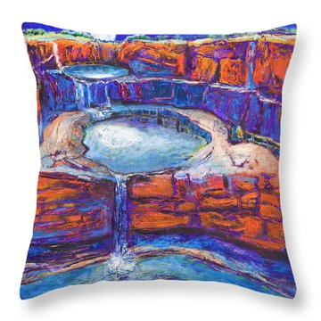 Moon Rising Over The Mitchell Falls Throw Pillow