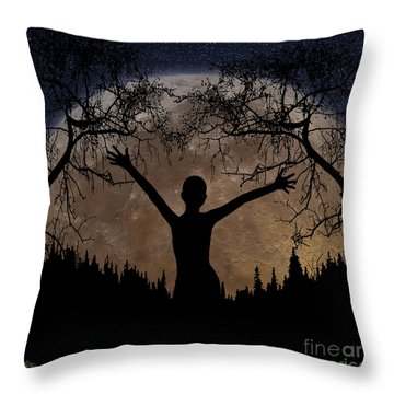 Moon Rising Throw Pillow by Peter Piatt