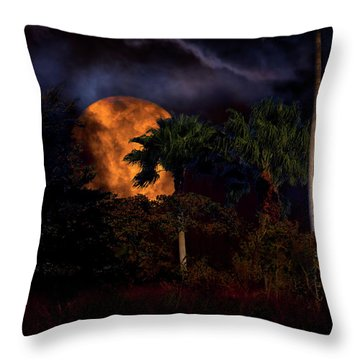Throw Pillow featuring the photograph Moon River by Mark Andrew Thomas